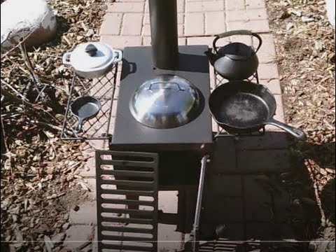 Guide Gear Tiny Woodstove: First Burn, Accessories and Cooking