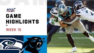Seahawks vs. Panthers Week 15 Highlights | NFL 2019