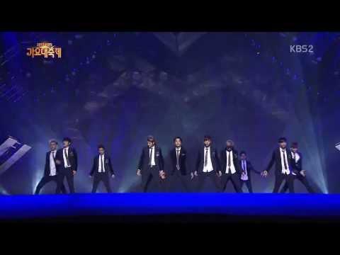 131227 EXO - Intro (Dub step) + Growl Live, KBS Gayo Daejun 2013 [HD]