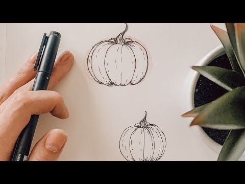How To Draw a Pumpkin #shorts