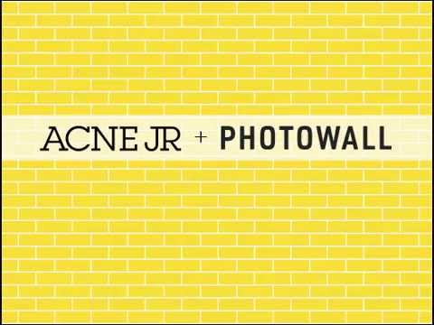 Acne JR + Photowall