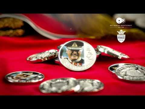 Se Folkekongens minnemedalje i detalj
