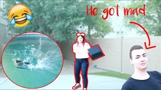 I THREW MY BROTHERS PS4 IN THE POOL PRANK ~