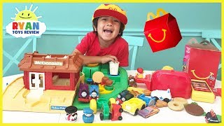 McDonald's Drive Thru Pretend Play Food Toys with McDonald's Playground Playset and Cash Register