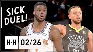 Stephen Curry vs Emmanuel Mudiay PG Duel Highlights (2018.02.26) Warriors vs Knicks - SICK