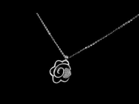 Browns Family Jewellers Silver Daisy Necklace