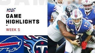 Bills vs. Titans Week 5 Highlights | NFL 2019