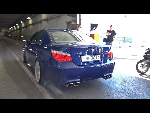 Tunnel Sounds! BMW M5 V10, Aventador, C63, Huracan & More!