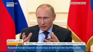 Situation, Ukraine, Pressekonferenz, Präsident, Wladimir Putin