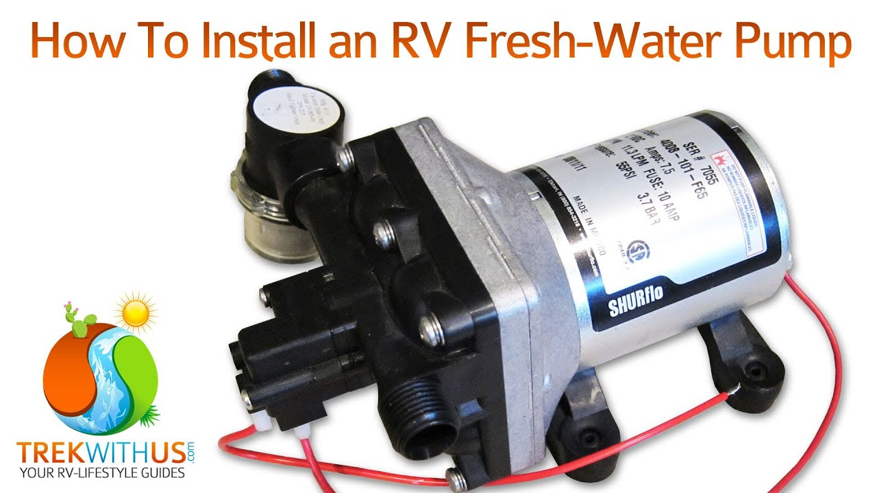 how to install a shurflo fresh water pump rv diy youtube wiring diagram for 7 wire trailer plug
