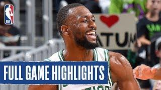 CAVS at CELTICS   Celtics Block 9 SHOTS in Win   NBA Preseason 2019