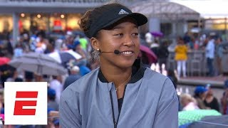 [FULL] Naomi Osaka interview after defeating Serena Williams in 2018 Grand Slam final   ESPN