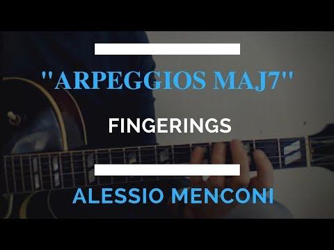 Maj7 arpeggios - 4 fingerings