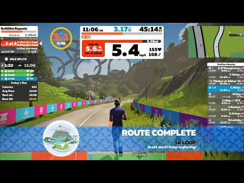 First Deeper Dive into Zwift Running Dec 7 2019