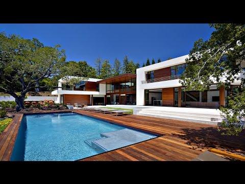 Moderná moderná rezidencia v Atherton v Kalifornii (architekti Swatt Miers)