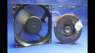 free energy generator fan using  magnet | new science projects at home