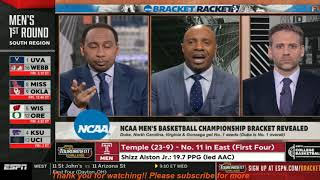 "ESPN First Take | Stephen A: ""NCAA Men's basketball champ bracket revealed Duke -No.1 overall seed"""