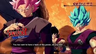 DBFZ Netplay: Kamus (Blue Goku Yamcha Black) Vs 18GotNothinOnMe (Kid Buu Cooler Goku)