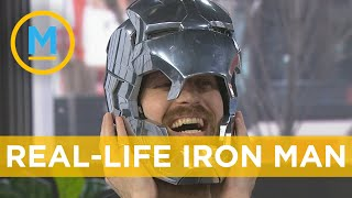 YouTuber @the Hacksmith shows off his Iron Man helmet, Captain America Shield & more   Your Morning