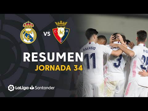 Resumen de Real Madrid vs CA Osasuna (2-0)