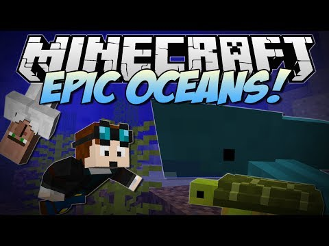 Minecraft   EPIC OCEANS! (Cannibals, Sharks, Turtles And More!)   Mod Showcase NEW - Smashpipe Games
