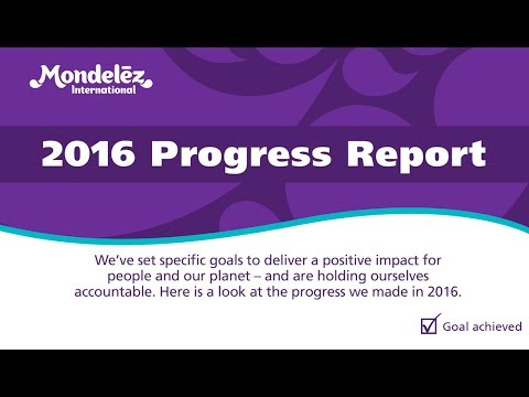 Mondelēz International Delivers Strong Progress Against Its 2020 Impact Goals