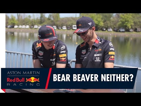 Max Verstappen and Pierre Gasly Play Bear, Beaver or Neither in Canada