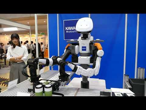 カワダロボティクス「NEXTAGE」箱詰め 自動化・省人化ロボット展