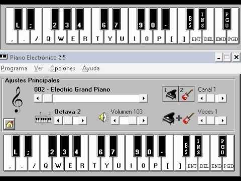 Fue Un Sueño Acustico Piano Electronico 2.5.avi