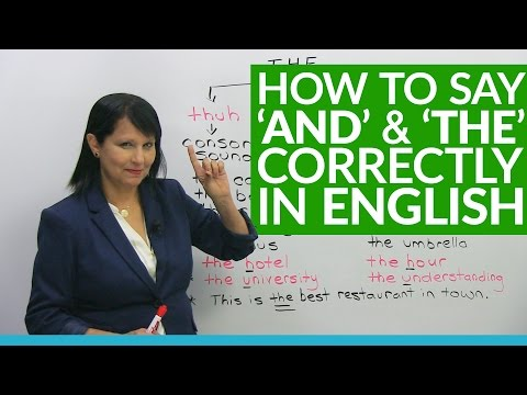 How native speakers say AND & THE in English