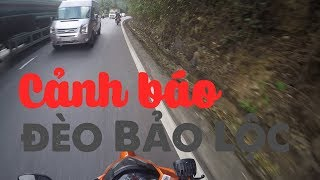 Những nguy hiểm trên đèo Bảo Lộc - Lưu ý khi đi phượt Đà Lạt | Vlog Phượt #7 | MinC Motovlog