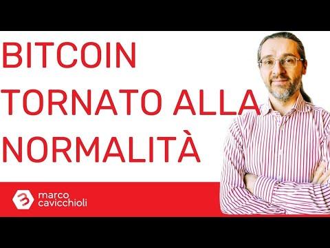 """Il prezzo di bitcoin è tornato alla normalità (ovvero la crescita è più """"sana"""")"""