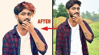 Picsart tutorial change hair style | How to replace hair in picsart | Picsart hair editing