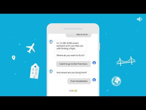Find KLM flights on the Google Assistant