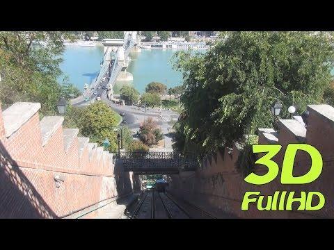 [3DHD] Walking Tour/Gyalogtúra: Funicular / Budavári Sikló, Budapest, Hungary / Magyarország