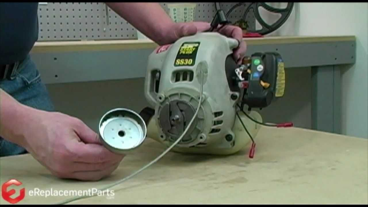 How To Fix The Starter On A Ryobi Trimmer Youtube