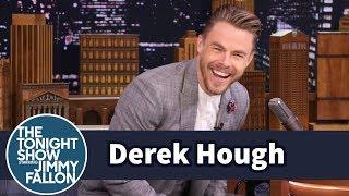 Derek Hough Tries to Dance Off Beat