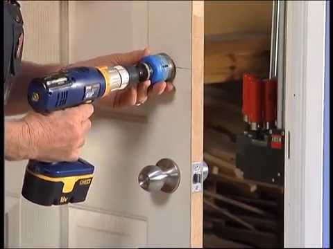 How To Install A Door Lock Diy At Bunnings Youtube