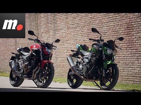 Comparativo Honda CB500F vs Kawasaki Z400  / Prueba / Preview en español