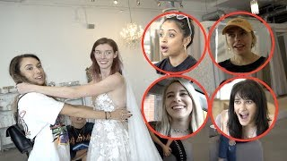 VLOG SQUAD GIRLS PICK OUT HER WEDDING DRESS!!
