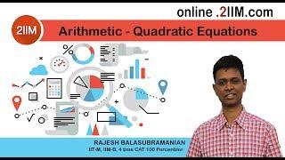Solution for CAT Qn - 2 Quadratic Equations, Diff: 4/5