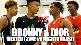 Bronny & Dior HEATED MATCHUP vs NASTY NIGHTRYDAS SQUAD!! | CRAZY Double Overtime at Peach Jam