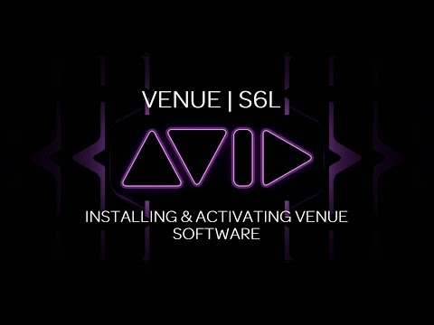 VENUE | S6L Installing and Activating VENUE Software