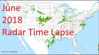 June 2018 US Weather Radar Time Lapse Animation