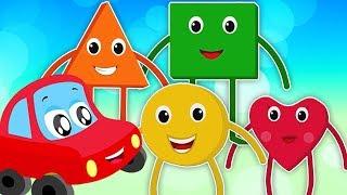 façonner chanson | apprendre formes | Shapes Song | Little Red Car Française | Comptines des Enfants