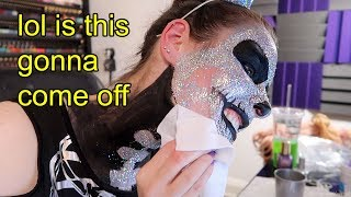 Taking off a face full of holo glitter (R.I.P my face)