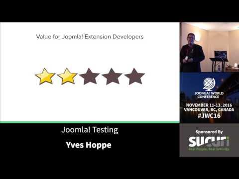 JWC 2016 - Joomla Teasting - Yves Hoppe