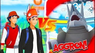 THEY DID THE IMPOSSIBLE! TWO Trainers VS  AGGRON Raid in Pokémon Go!