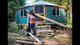 Living Off Grid - Yurt Homestead & Alone in Wilderness | A FULL MONTH in the Life