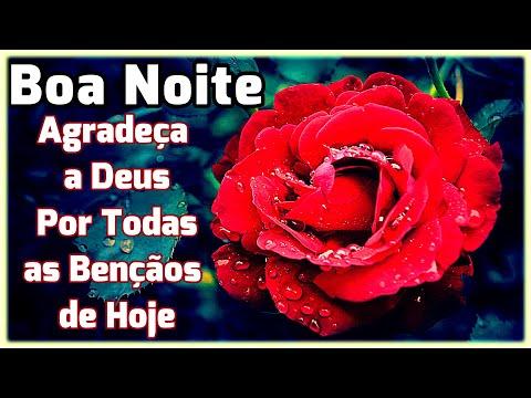 Mensagem de Boa Noite /Agradeça a Deus Por Todas as Bençãos de Hoje !